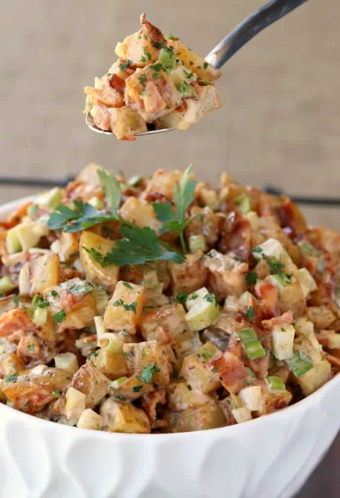 Oven Roasted Barbecue Potato Salad is the perfect side dish for your summer grilling!