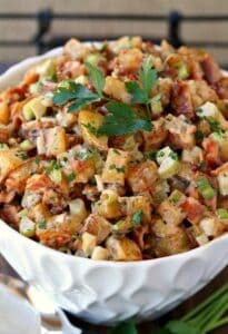 Oven Roasted Barbecue Potato Salad