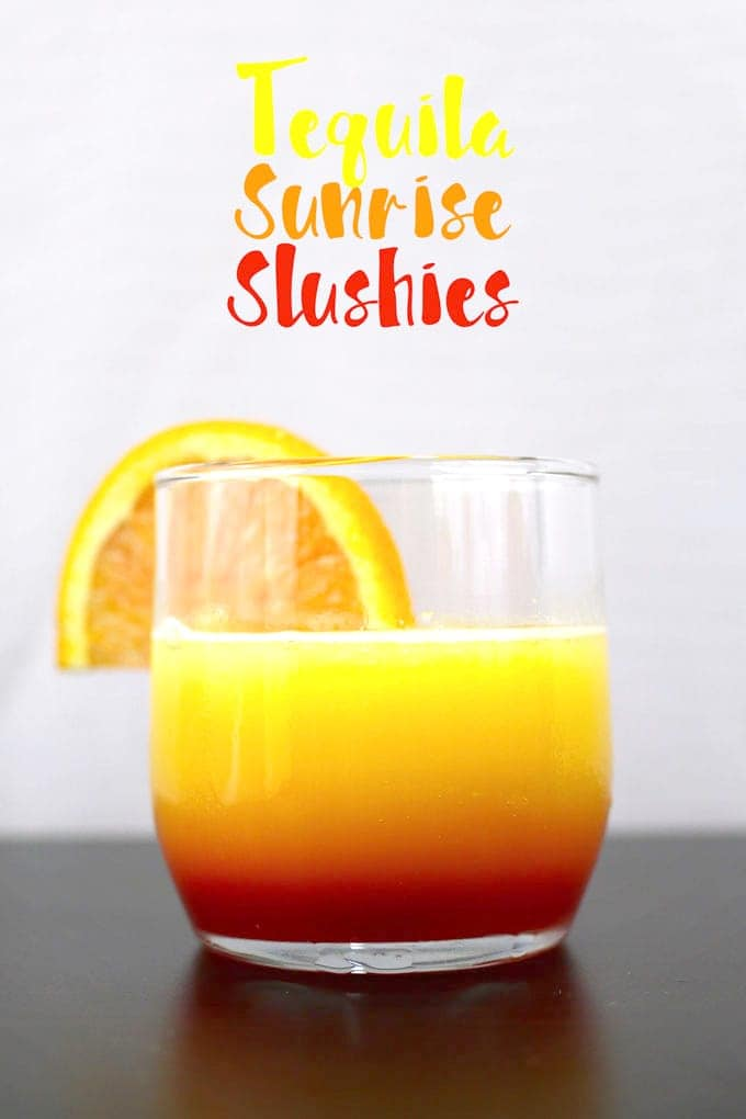 Cinco de Mayo Tequila Cocktails - Sunrise Slushies