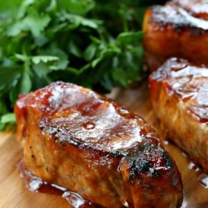 Cider Brined Pork Chops with Brown Sugar BBQ Sauce