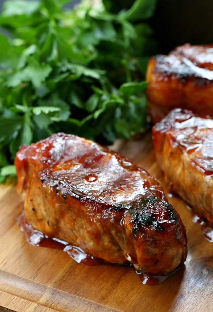 Cider Brined Pork Chops with Brown Sugar BBQ Sauce is a pork chop recipe that comes out very tender and juicy