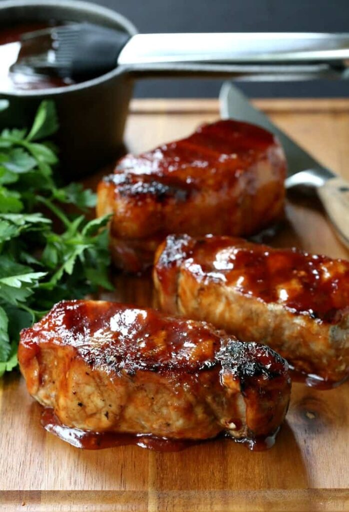 Juicy Grilled BBQ Pork Chops are a grilled pork chop recipe
