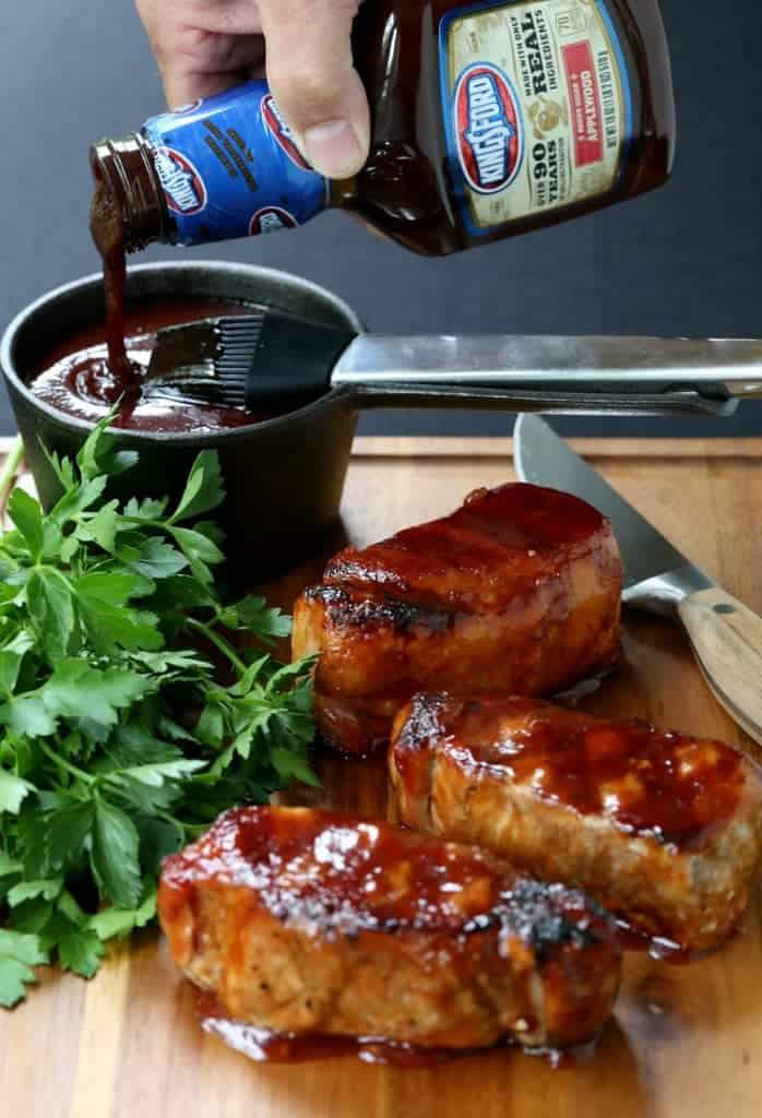Cider Brined Pork Chops with Brown Sugar BBQ Sauce is pork chop recipe that be on the table in 15 minutes
