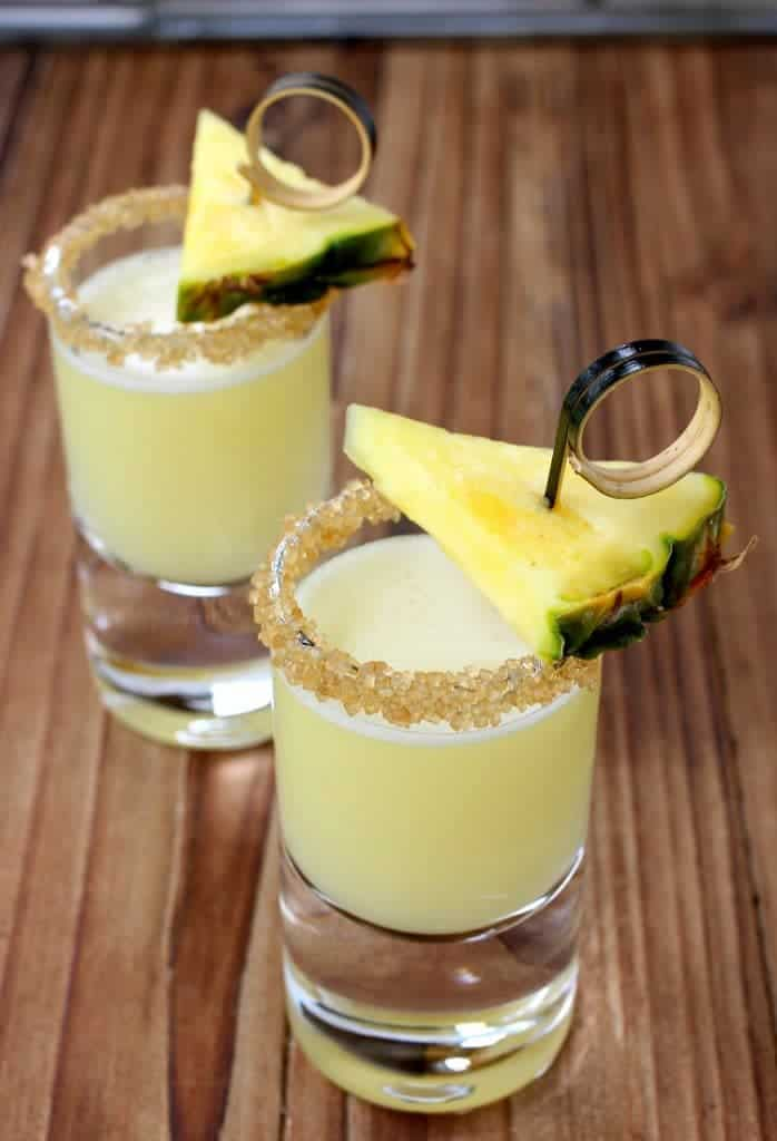Double Trouble Tropical Tequila Shots are a perfect summer drink!