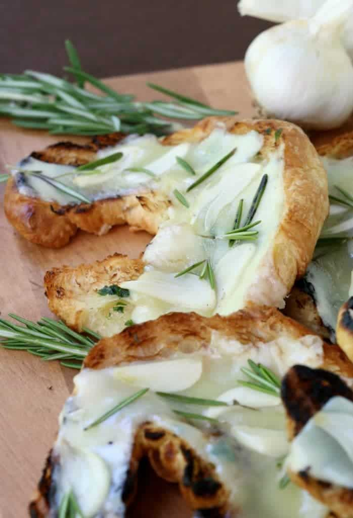 Grilled Cheese Garlic Croissants are hitting the grill tonight!