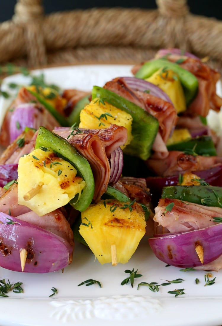 Hawaiian Ham Kabobs take a little help from the store for an easy dinner!