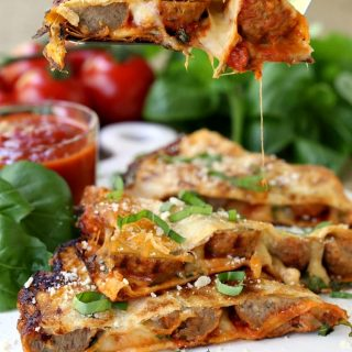 Meatball Pizza Quesadillas