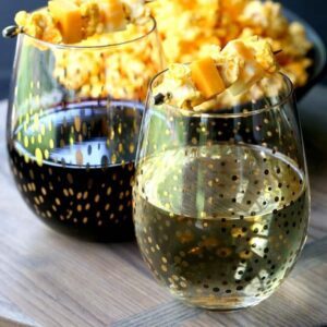 Popcorn and Cheese Wine Garnish