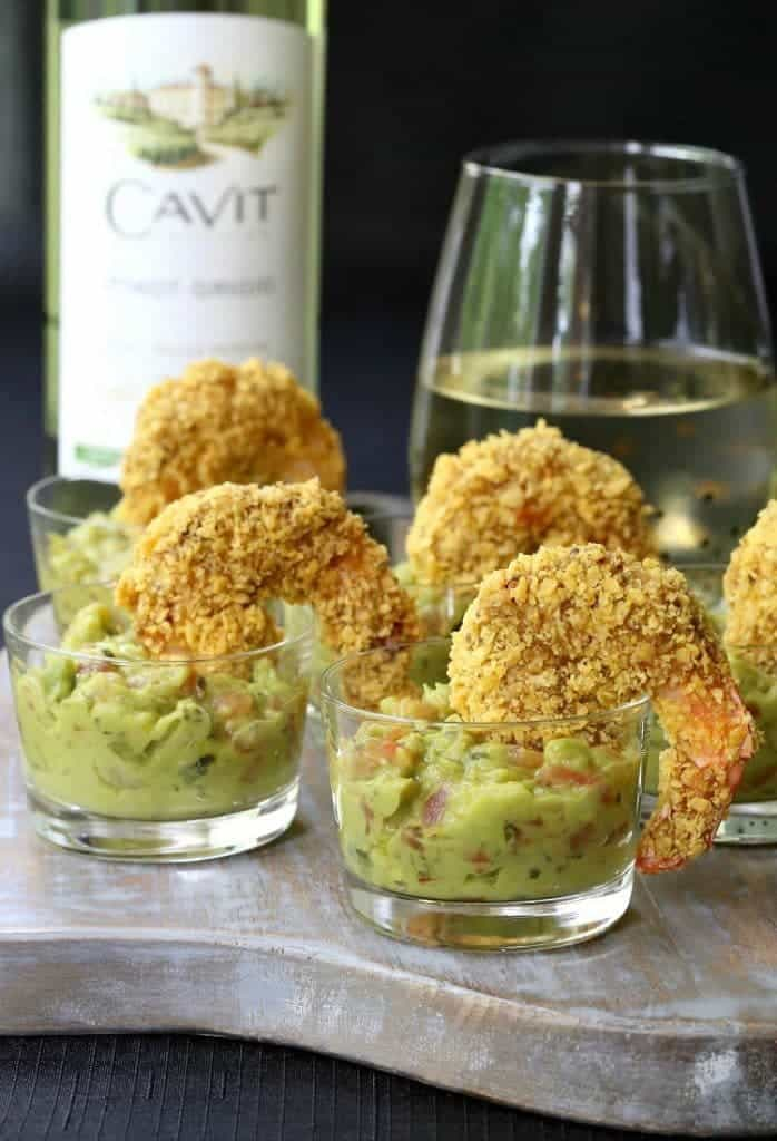 Make Tortilla Crusted Taco Shrimp for appetizers or dinner with a glass of wine!