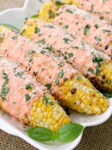 grilled corn recipe with an Italian flavored sauce