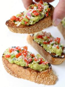 Grilled Tex Mex Avocado Toast appetizer