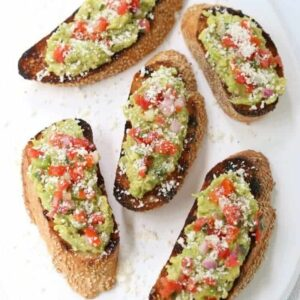 Easy Avocado Toast Party Appetizer