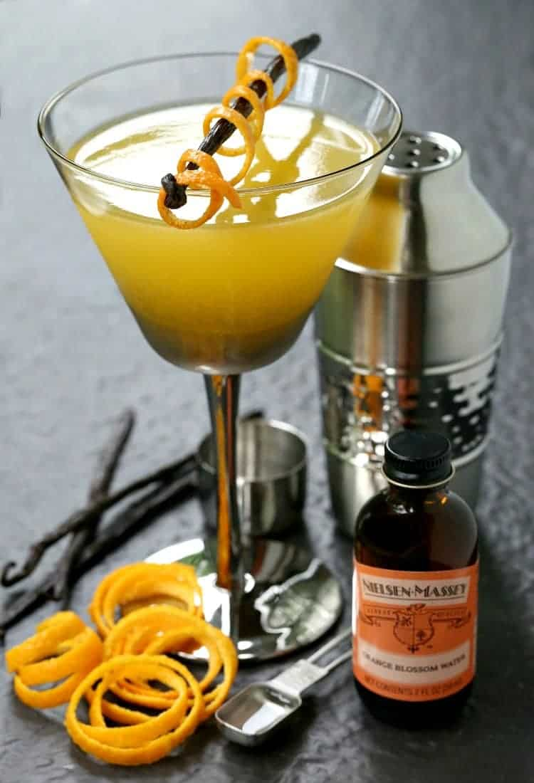 This Orange Blossom Vodka Martini is perfect for warm summer days!