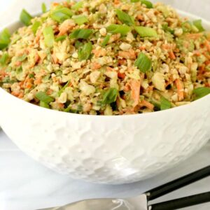Thai Peanut Brussels Sprout Slaw