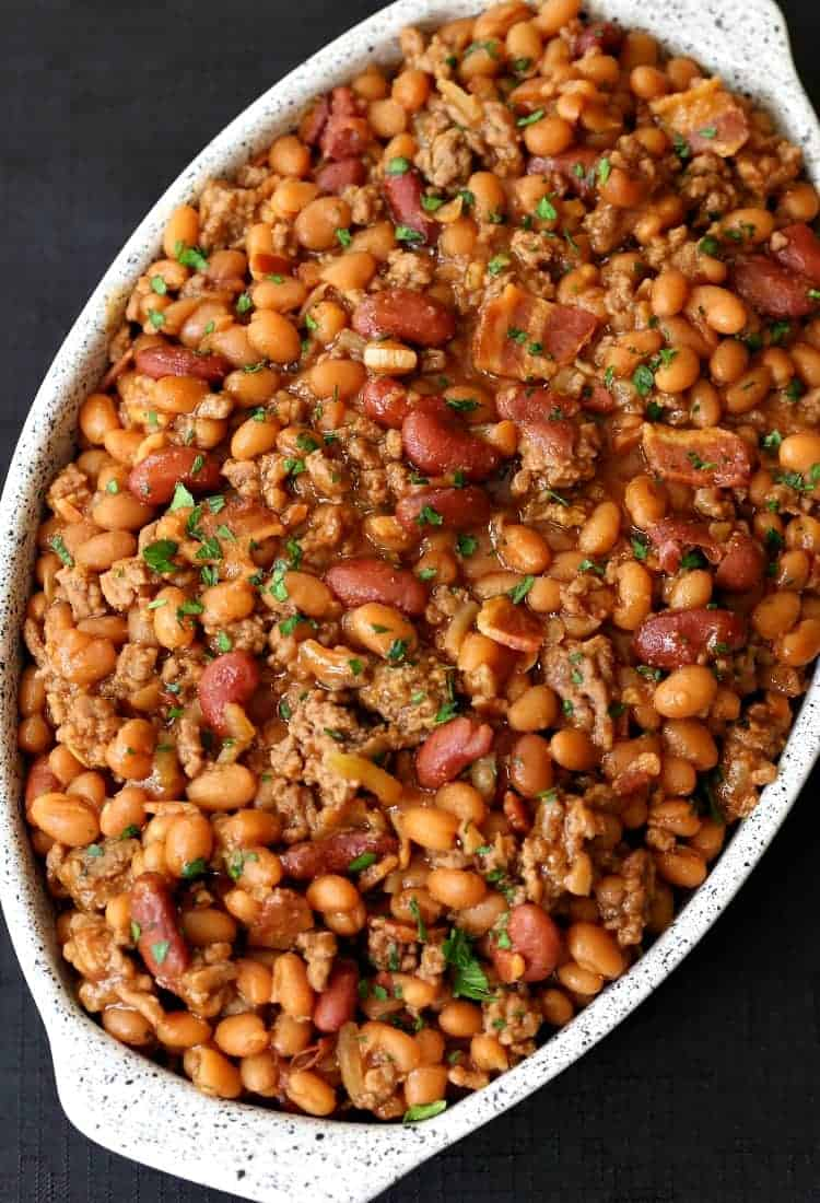 Buddha's Baked Beans are everyone's favorite BBQ side dish!