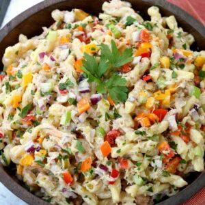 Crab Cake Pasta Salad