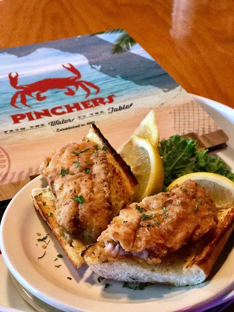 MANcation in Naples, Florida - Pinchers Fish sandwich