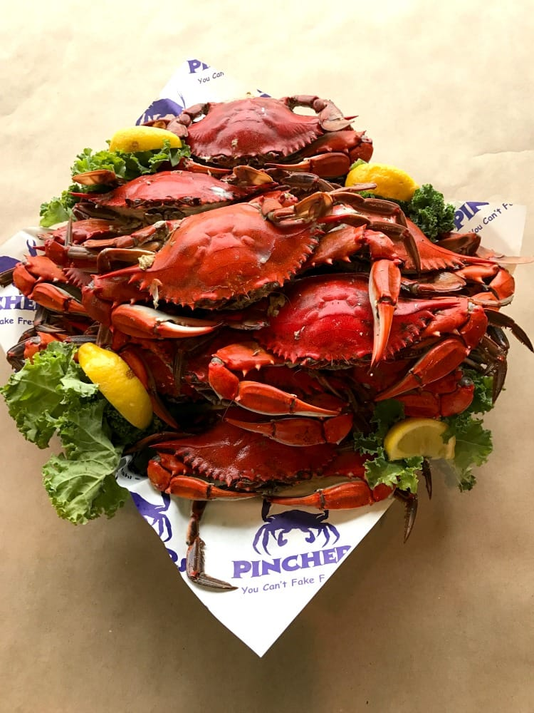 MANcation in Naples, Florida - Pinchers Crabs, boiled