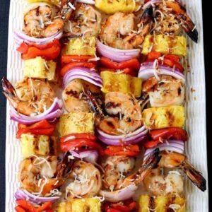 Pina Colada Shrimp Kabobs