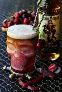Rum and Cherry Coke Slushie