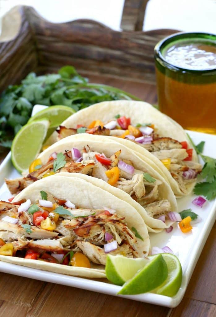 Slow Cooker Crispy Chicken Carnitas will be the hit for dinner on taco night!