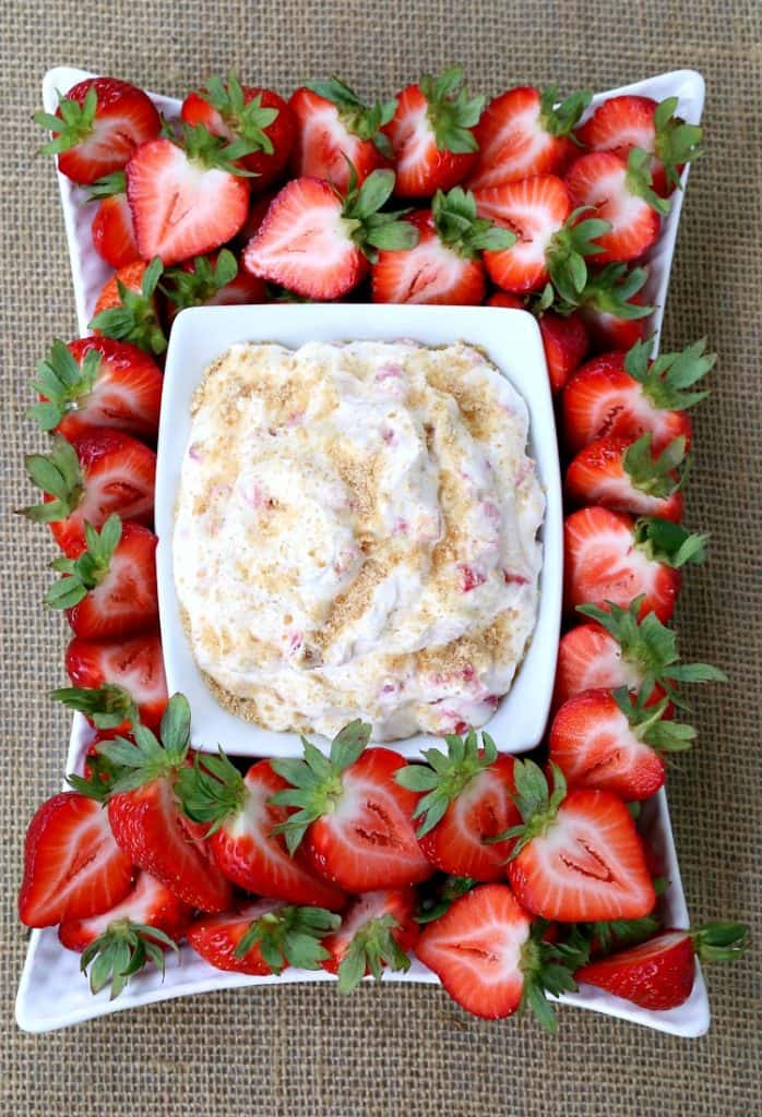 No Bake Strawberry Shortcake Dip
