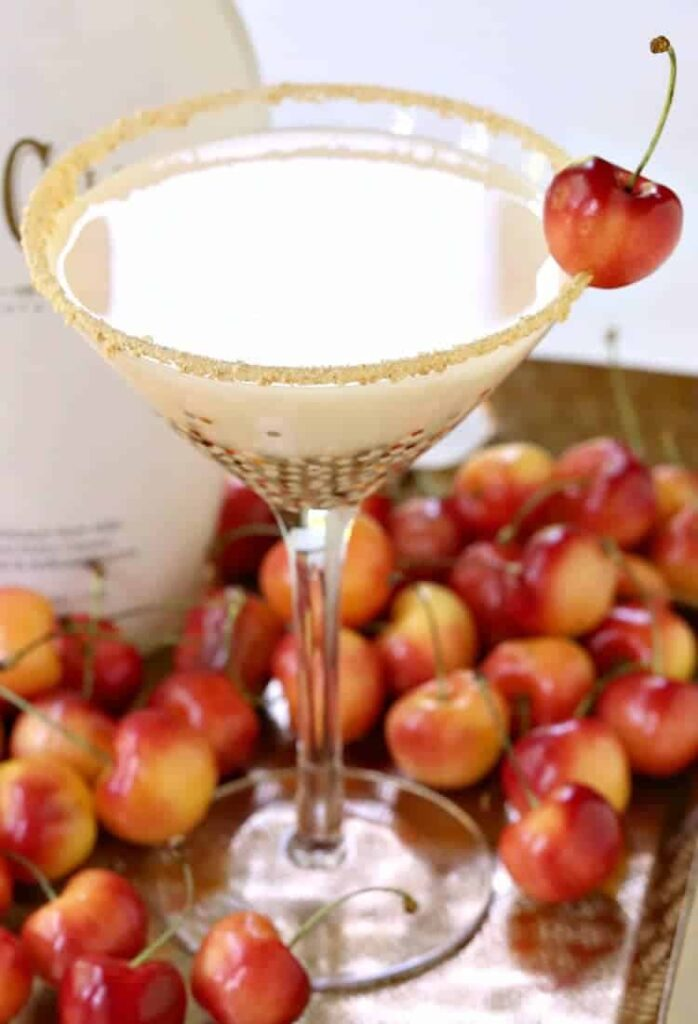 RumChata Cherry Pie Martini is a martini recipe made with RumChata
