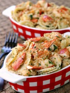 This Brown Butter Lobster Roll Pasta is comfort food at it's best!