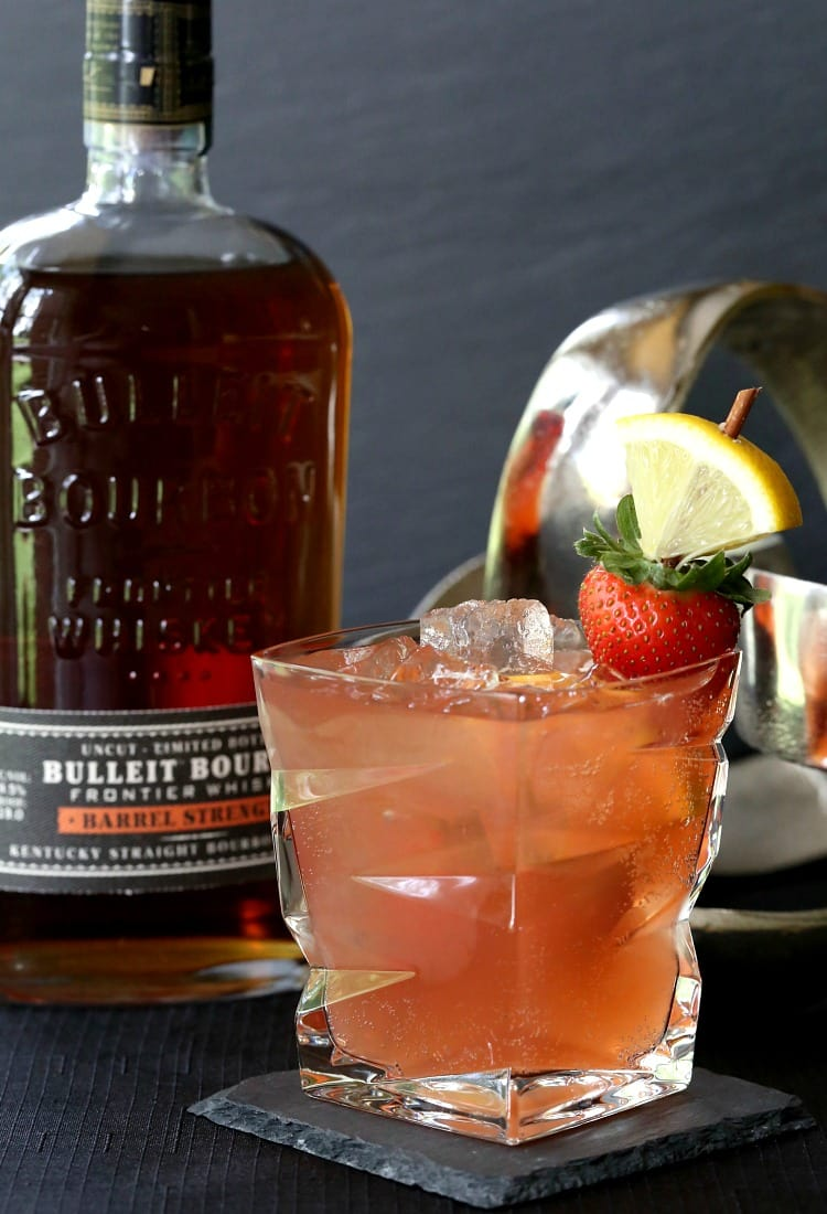 Kentucky Sunset Cocktail with Bulleit Bourbon