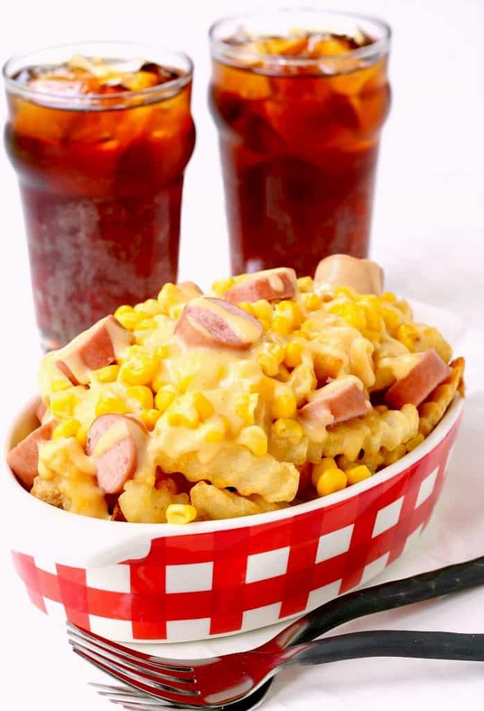 This Corn Dog Poutine has all your favorite Summer flavors!