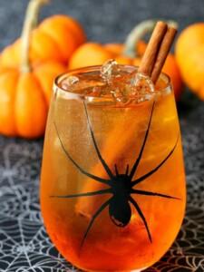Pumpkin Spice Wine Spritzer | Halloween Cocktail Recipe