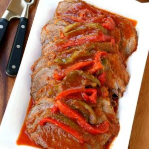 Easy Slow Cooker Pot Roast Recipe with Jersey Flavor!