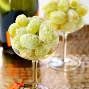 Sugared Prosecco Grapes