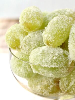 Sugared Prosecco Grapes rolled in sugar