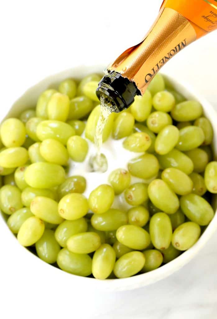 Sugared Prosecco Grapes start with a bottle of your favorite prosecco!