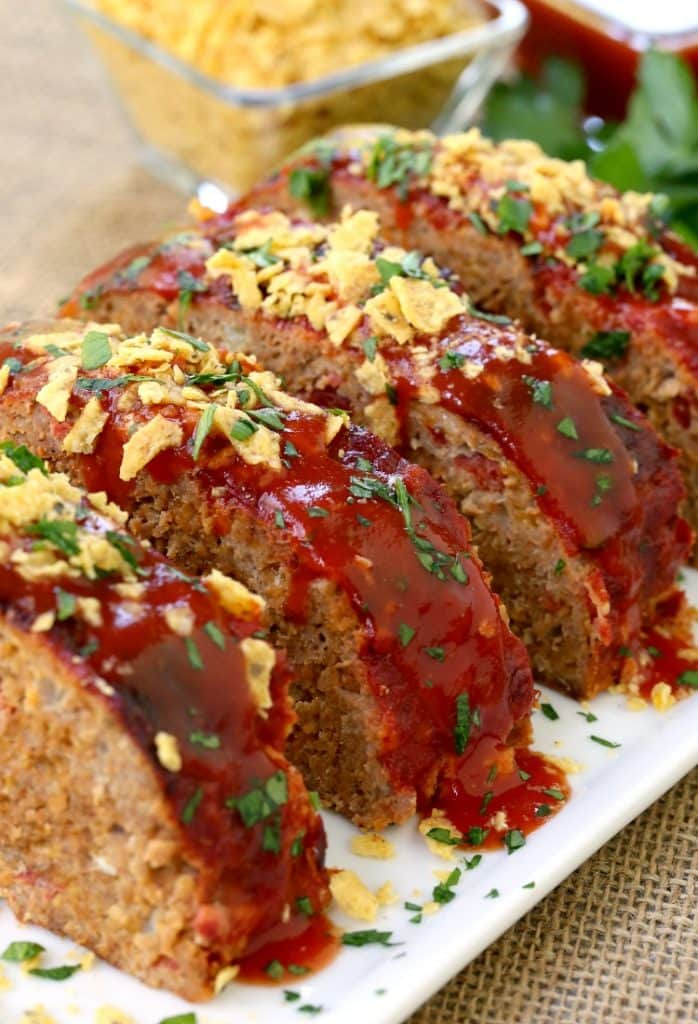This Turkey Taco Meatloaf is the most flavorful meatloaf recipe ever!