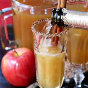 These Apple Cider Mimosas have a special boozy kick!