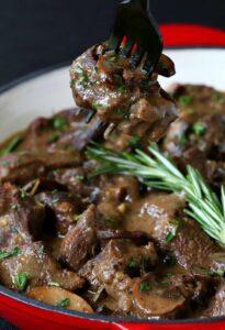 Beef Tip Marsala Stew