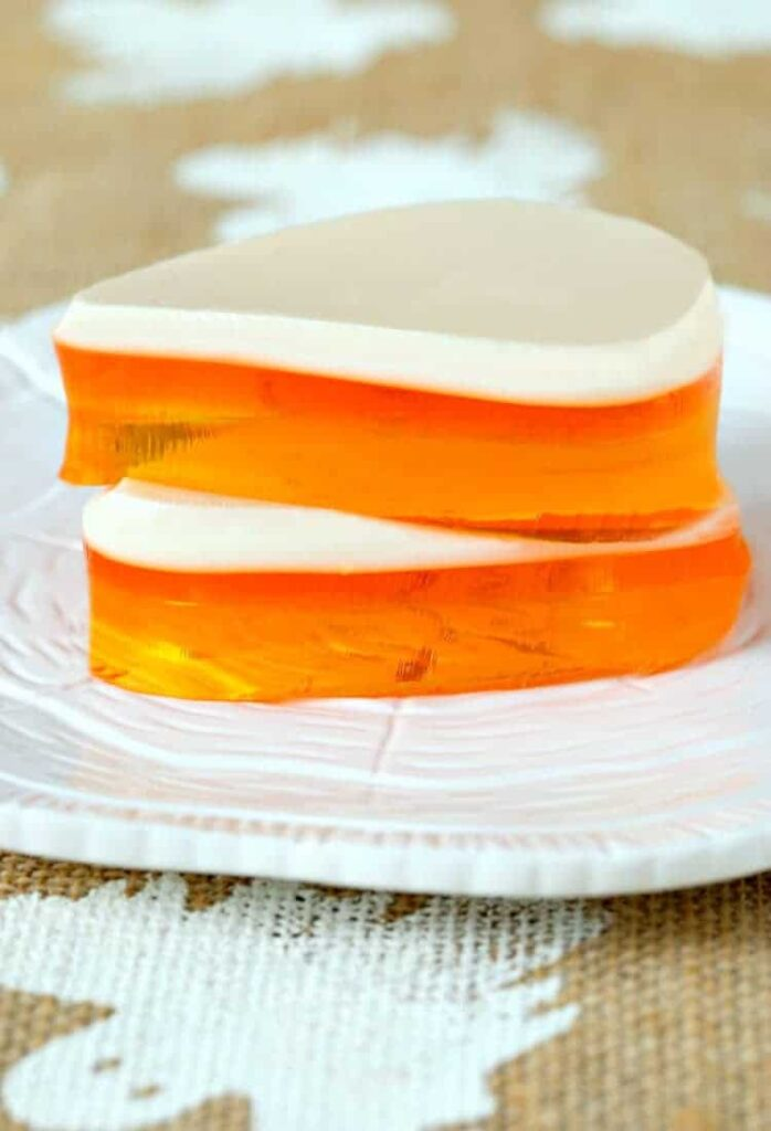 Candy Corn Jello made with RumChata