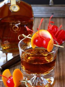 Try this Simple Rum Old Fashioned only has a few ingredients!