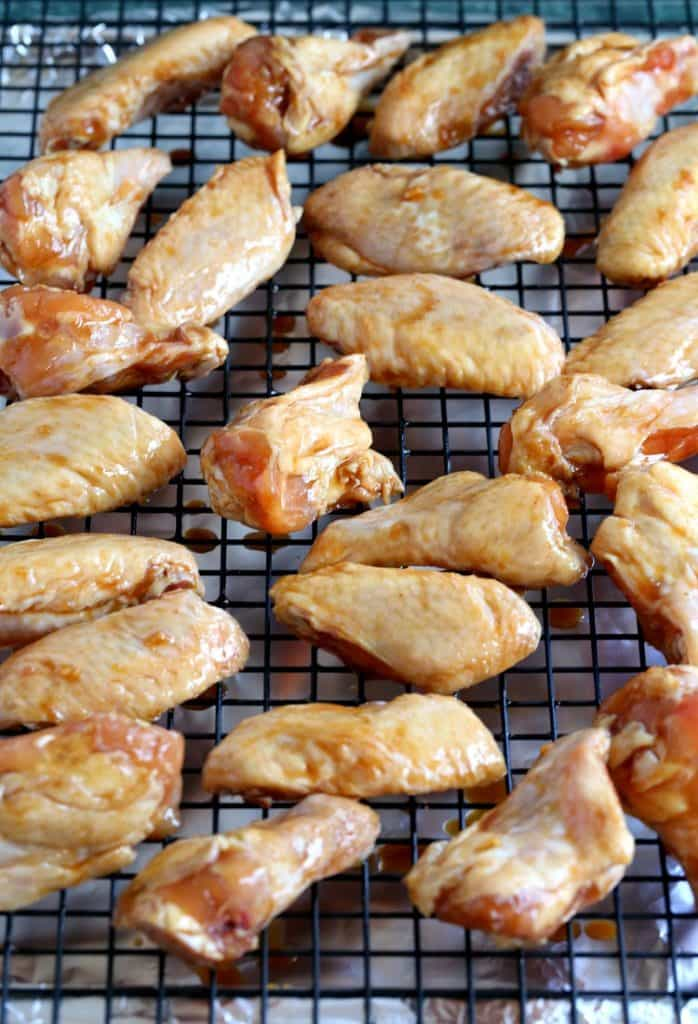 These Sticky Hoisin Chicken Wings are baked not fried!