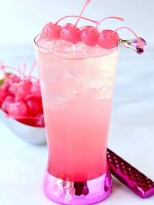 This Tickled Pink Shirley Temple is not only tasty but it's for a good cause!