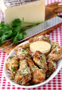 Baked Garlic Parmesan Chicken Wings