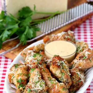 These Baked Garlic Parmesan Chicken Wings are a copycat recipe that's even better than the original!