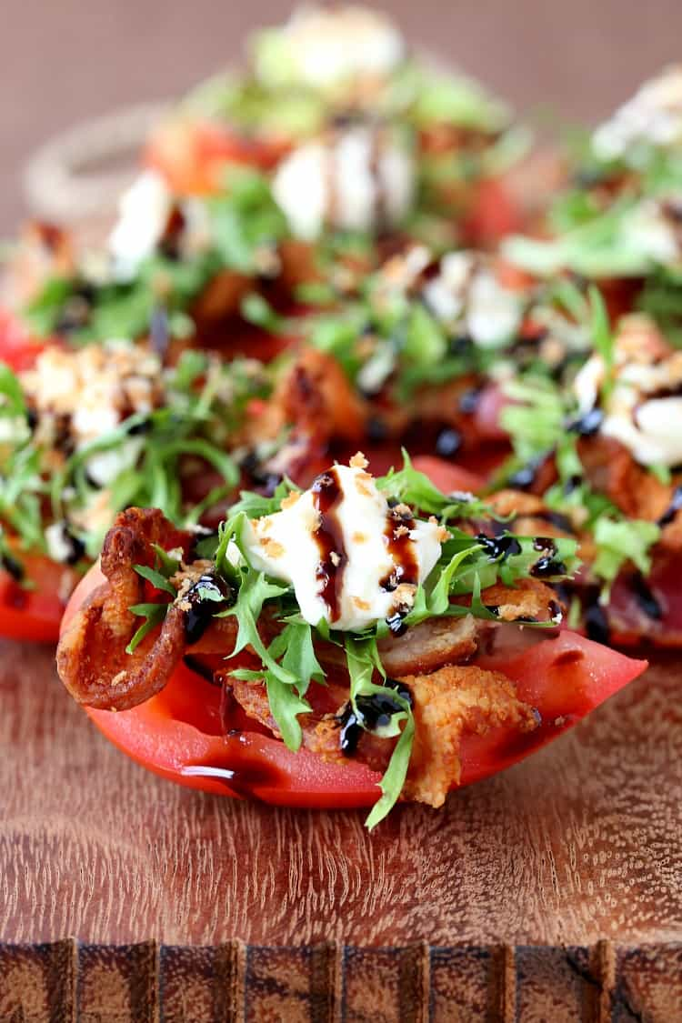 These Cherrywood Smoked BLT Bites are a low carb, delicious snack or appetizer!