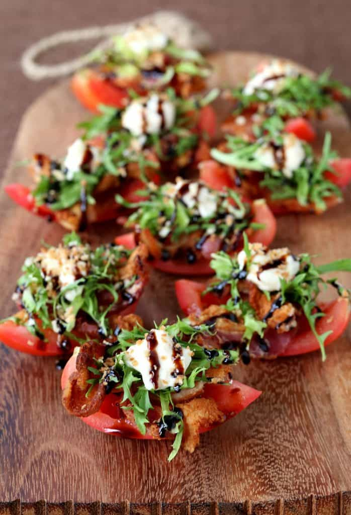 BLT Bites are a low carb appetizer