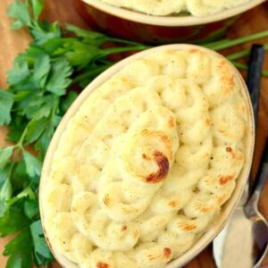 Use up all those leftovers and make this Leftover turkey Shepherd's Pot Pie!