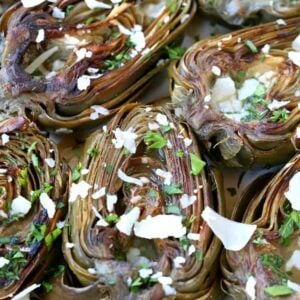 Roasted Brown Butter Artichokes