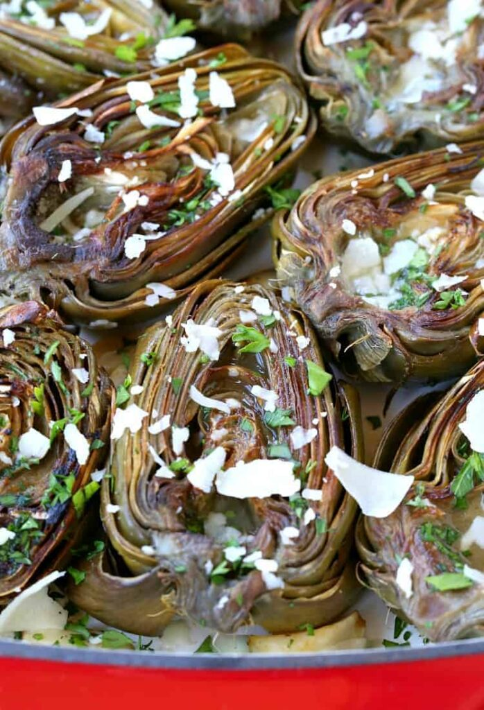 These Roasted Brown Butter Artichokes are an easy side dish for any meal!
