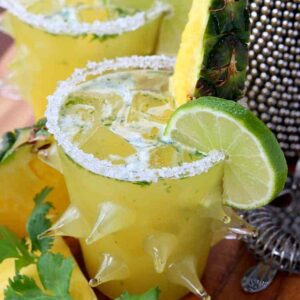 Spicy Pineapple Cilantro Margarita